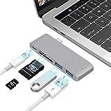 USB Type C ハブ 5in1 USB C ハブ HUB ウルトラスリム ドッキングステーション Type-Cアダプター、 PD充電ポート、SD/Micro SDカードリーダー、2 USB 3.0ポート、 タイプC 変換アダプター MacBookPro/ChromeBook/Microsoft Surface Go対応 (グレー)