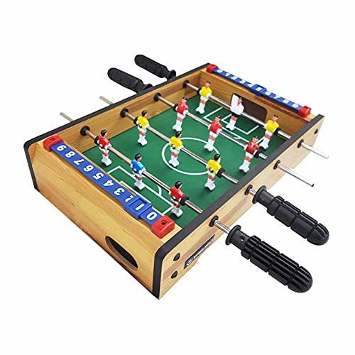 Futbolín Futbolín para Niños, Mini Juego De Mesa De Fútbol De Madera Portátil, Fútbol De Mesa Arcade para La Familia Y La Sala De Juegos