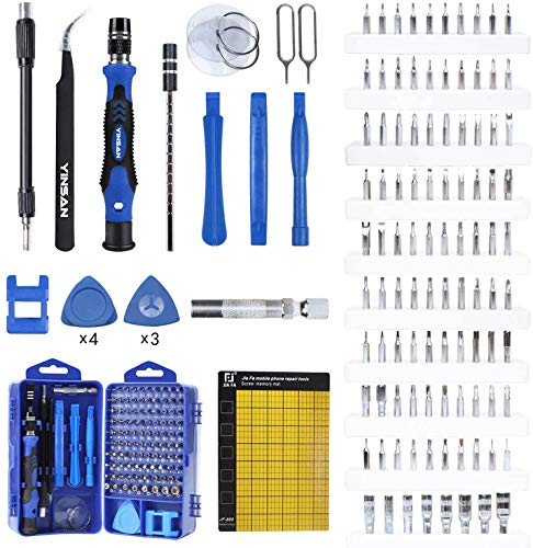 YINSAN 120 en 1 Juego de Destornilladores de Precisión con Magnetizador, Kit...