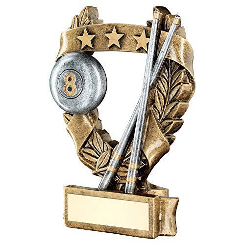 Lapal Dimension Brz/tenn/guld pool/snooker 3 stjärnor krans pris trofé – 19 cm