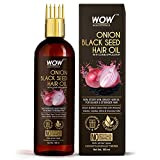 WOW Skin Science Onion Black Seed Hair Oil - WITH COMB APPLICATOR