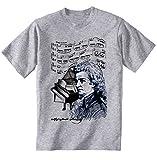 Photo de teesquare1st Men's Wolfgang Amadeus Mozart Grey T-Shirt Size XXXLarge