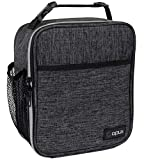 OPUX Premium Insulated Lunch Box   Soft Leakproof School Lunch Bag for Kids, Boys, Girls   Thermal Reusable Work Lunch Pail Cooler for Adult Men, Women, Office Fits 6 Cans (Charcoal)