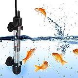 Calentador de acuario sumergible, calentador de acuario, para agua dulce para agua salada, mini varilla de calentamiento de acuario, calentador de agua ajustable, enchufe de la UE