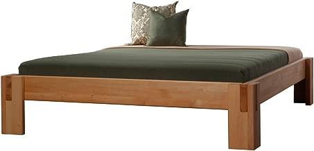 Yadros Massivholzbett Alpha Erle Metallfrei, Größe:90 x 200 cm;Holzart:Erle Natur geölt