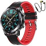 Smartwatch,Reloj Inteligente Fitness Tracker Hombres Mujeres Niños Impermeable IP68 Muñeca Pulsómetros Podómetro Caloría Pulsera de Actividad Reloj Deportivo para Android iOS (Rojo)