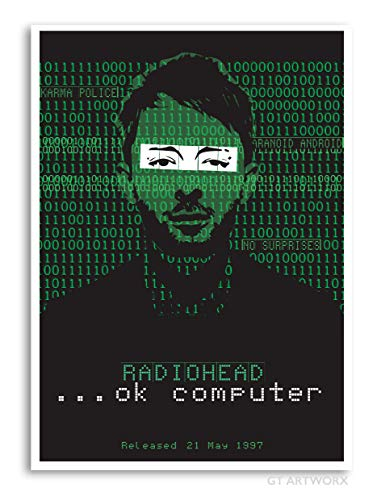 Radiohead OK computer inspired art print poster. Re-imagined and specially created
