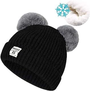 71f76cb9e1e Unisex Baby Winter Hat Cute Pom-Pom Beanies for Boys Girls