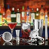 Principiantes Kit Cocteleria Profesional Juego de Coctelería Acero Inoxidable 23 Piezas Cocteleras de Cóctel Set Kit para Hacer Cócteles Ideal para Bar Hogar Mezclar Bebidas Drinkware ( Size : 550ML )