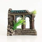 N\A Decoración de la ruina del Templo Griego del Acuario - Decoraciones de Material de Resina, Decoraciones ecológicas para acuarios escondidos de peceras