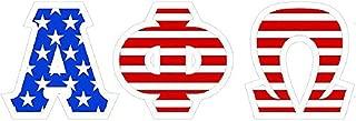 Alpha Phi Omega American Flag Greek Letter Sticker