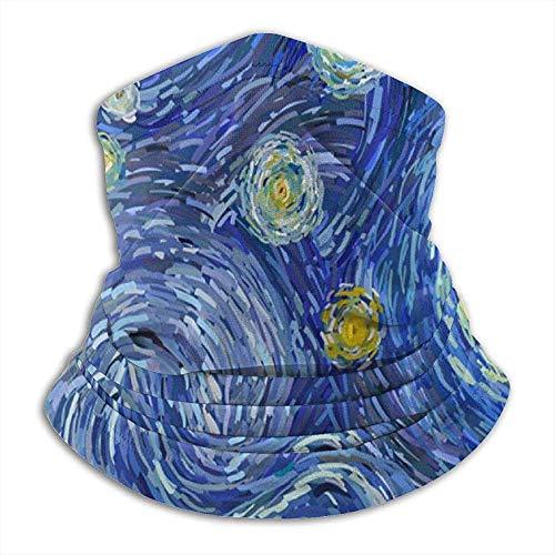 Mikrofaser Nackenwärmer Starry Night Moon Art Nackenschutz Tube Ohrwärmer Stirnband Schal Gesichtsmaske...