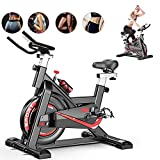 Fnova Exercise Bike Indoor Cycling for Home/Gym Use with Heart Rate Monitor, LCD