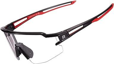 ROCKBROS Zonnebril, Fotochromatisch, Transparant, voor Fietsen, Hardlopen, Sporten in de Open Lucht, UV-bescherming 400 vo...