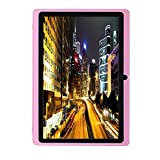 Egmy 7'' Tablet - Android 4.4, Quad Core,1024x600 HD Screen, Dual Camera, Bluetooth, Wi-Fi, 8GB, 3D Game Supported(Pink)