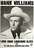 Hank Williams Poster Long Gone Lonesome Blues