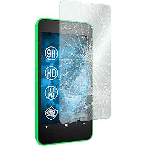 PhoneNatic 2 x Glas-Folie klar für Nokia Lumia 630 Panzerglas für Lumia 630