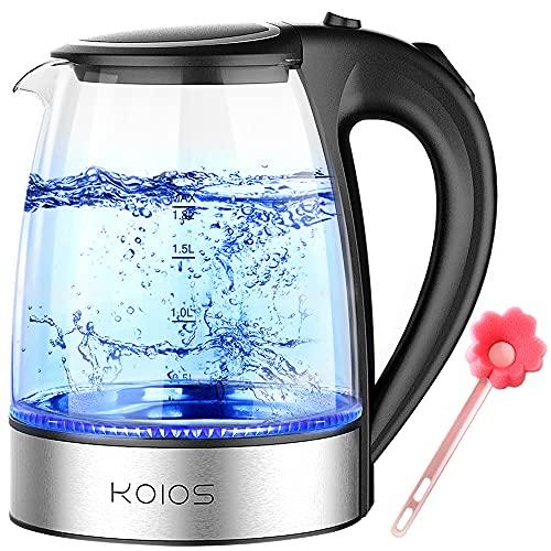 KOIOS Electric Kettle 1.8L Hot Water Boiler Teapot & Glass Tea Kettle...
