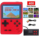 RXYYOS Tragbare Handheld Spielkonsole, 400 Klassische Spielen und 3.0-Zoll-LCD Bildschirm Retro FC Spielkonsolen, USB Wiederaufladbare Unterstützt TV-Ausgang und Zwei Spieler, Kinder Geschenk