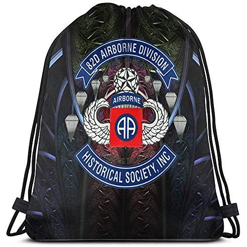 Sanme 82.-Airborne Division Kordelzugbeutel Sportreisetasche Persönlichkeit Logo Kordelzugbeutel