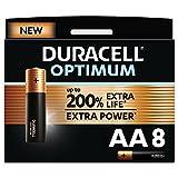 Duracell - NUEVO Pilas alcalinas Optimum AA , 1.5 Voltios LR6 MX1500, paquete de 8