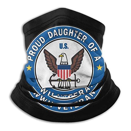 huatongxin Proud Daughter of A Ww2 Veteran Unisex Microfibra Calentador de cuello Pañuelo negro Pañuelo Pasamontañas