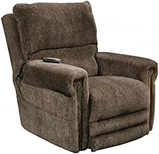 Catnapper Warner 764862 Power Lift Lay Out Dual Motor Infinite Position Recliner Chair - Power Lumbar Support Power Headrest - Extended Ottoman Footrest - 300 Capacity Tigers Eye with In-Home Delivery
