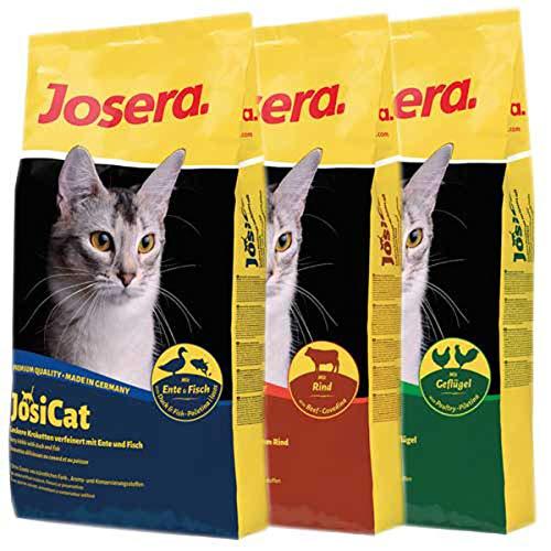 Josera 30 kg JosiCat - je 10 kg JosiCat Ente, Rind, Geflügel