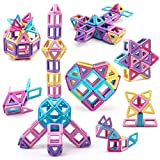 Amy&Benton Mini Castle Magnetic Building Blocks for Kids Toddlers and Babies Magnetic Blocks Small STEM Toys 80PCS...