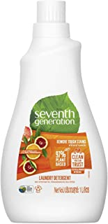 Seventh Generation Plant-based Concentrated Fabric Detergent Liquid, Citrus, 1 Litre