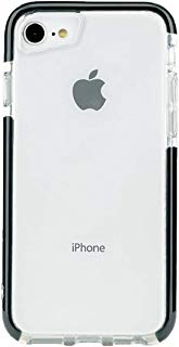 Tuff by Momo Impact Protection case iPhone 8 Plus, iPhone 7 Plus case iPhone 6s Plus Case - Duo Drop Shock Proof (Clear Back Panel) Slim Design + Premium Quality (Black, iPhone 6/7/8 Plus)