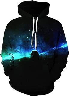 Unisex 3D Galaxy Printed Sweatshirt Men's Pullover Big Pockets Hooded Hoodies