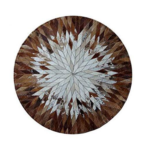 Woonkamertapijt, mozaïek, rond, kantoor, salontafel, slaapkamer, tapijt, nachtkastje, porselein, diameter 120 cm, bruin Diameter 120cm Bruin