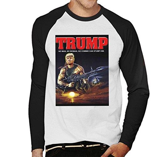 Cloud City 7 Donald Trump Rambo Muscle Man Men's Baseball Long Sleeved T-Shirt