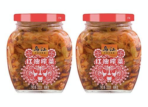 [Pack of 2] WUJIANG Bottle Preserved Vegetable 乌江涪陵榨菜 - 300 Gram (Preserved Spicy Mustard 红油榨菜)