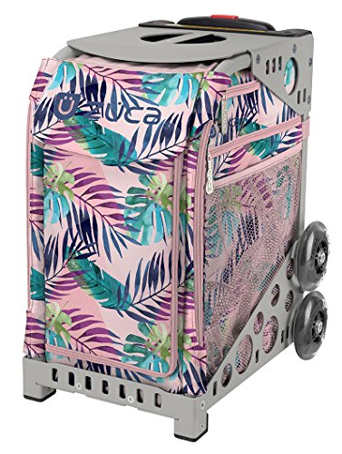 ZUCA Pink Oasis Sport Insert Bag and Gray Frame with Flashing Wheels