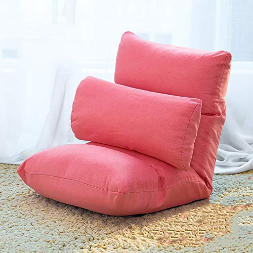 Lazy Couch Bed Riem Noursing borst hoofdkussen unieke klapstoel kleur stabiele glasbessen vloermat 40x80cm Roze