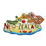 Aimant de réfrigérateur 3D Nouvelle-Zélande - Souvenirs de voyage - Décoration de maison et de cuisine - Collection d'aimants de réfrigérateur de Chine