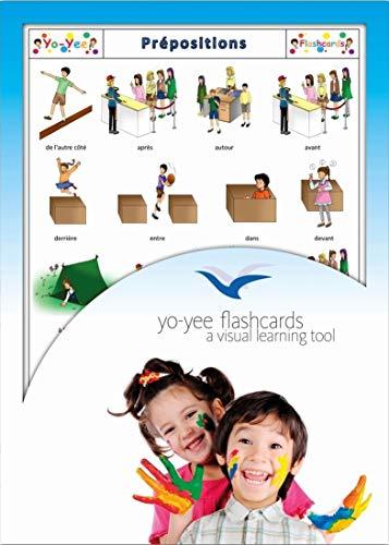 Grandes cartes images en français - Prépositions - Pour améliorer de manière ludique le vocabulaire de base, la syntaxe et la grammaire - Pour la garderie, le jardin d'enfants ou l'école primaire