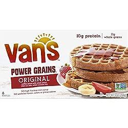 Van's, Power Grains Waffles, Totally Orginal, 6 Count (Frozen)