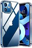 Durchsichtige Handyhülle iPhone 12/12 Pro - Kristallklare Handy Hülle - Robuste Handy Schutzhülle - Premium iPhone Hülle - Vergilbungsfreie iPhone 12 Pro Hülle