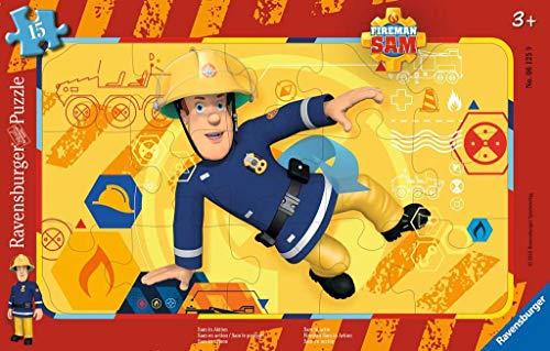 Ravensburger Kinderpuzzle 06125 - Sam in Aktion - Rahmenpuzzle