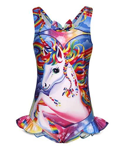 AmzBarley Unicorno Costumi Interi da Ragazza Bambina Costume da Bagno Mare Piscina Nuoto Nuotare Abbigliamento da Spiaggia Carnevale Costume