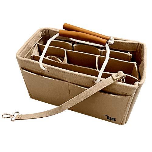 Handbag Purse Felt Organiser Insert with Handle (X-Large, Red)