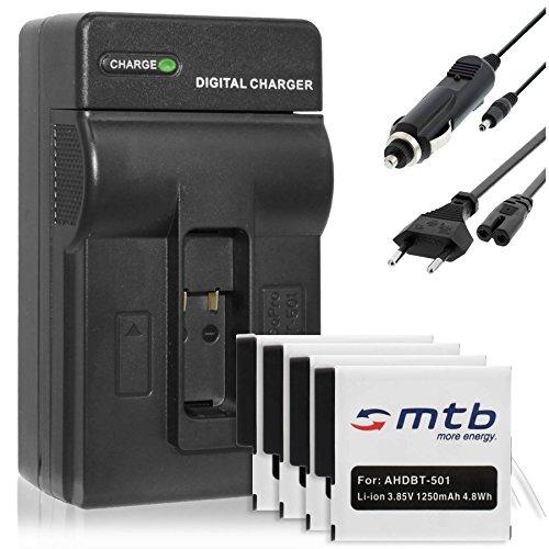 Batteria (S) + caricabatteria (Auto/Corrente) per aabat 001/per GoPro Hero 5–Compatibile con tutti i firmwares (v1.57+)