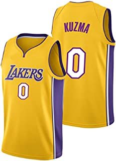 Men's Basketball Jerseys NBA Los Angeles Lakers 0# Kyle Kuzma Embroidered Swingman Shirts Sleeveless Sweatwear