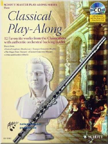 Classical Play-Along - Flauto Noten [Note musicali]