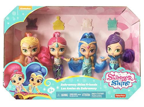 Fisher-Price Shimmer y Shine 4 Muñecas con Shimmer, Shine, Leah Y Zeta