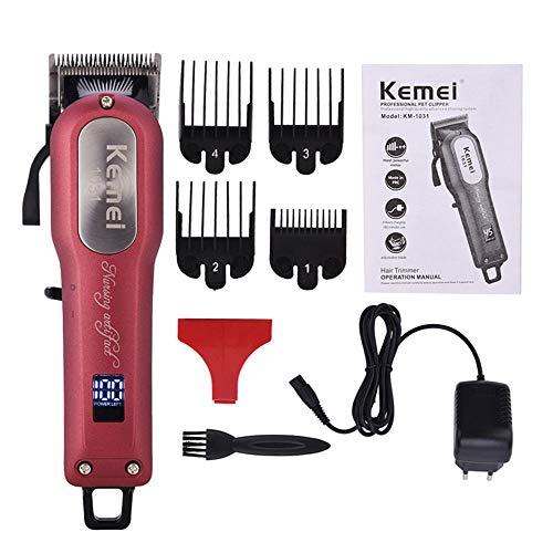 KEMEI cortador de pelo para hombres, eléctrico profesional potente co