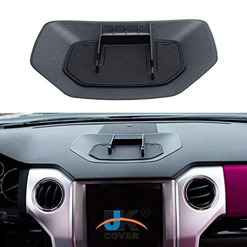 JKCOVER Dash Center Console Table Storage Tray Compatible with Toyota Tundra 2014 2015 2016 2017 2018 2019 2020 Accessories,Dashboard Organizer Phone Holder Cradle Instrument